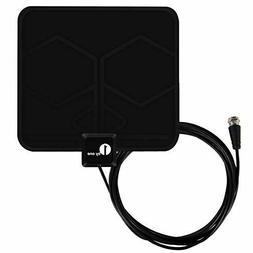 1 by One Paper Thin Indoor HDTV Antenna Model BLACK  SHELF P