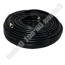 100FT Extension RG6 Black Coaxial HD Satellite Dish Cable TV