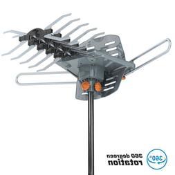 1080P 150Mile Outdoor Long Range TV Antenna Amplified 360 Di
