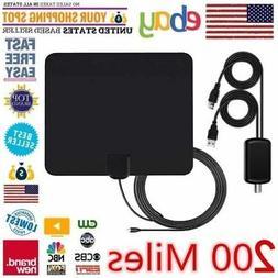 1080P 4K Antenna Digital HD TV Amplified Mile Ultra Thin 200