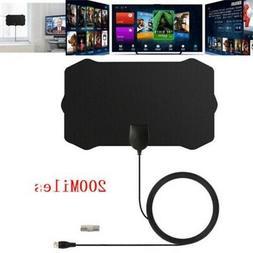 1080P Antenna Digital HD TV Amplified Mile Ultra Thin 200 Mi