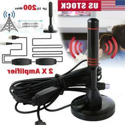 1080P Antenna TV Digital HD 200 Miles Range Skywire TV Indoo