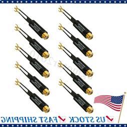 10pcs UHF VHF FM Plated 75-300 Ohm TV Adapter Antenna Match