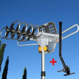 150 MILES OUTDOOR TV ANTENNA MOTORIZED AMPLIFIED HDTV W/ MOU