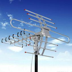 150 Miles TV HDTV 1080P 4K Motorized Amplified Antenna 36dB