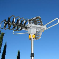 150MILES OUTDOOR TV ANTENNA MOTORIZED AMPLIFIED HDTV HIGH GA