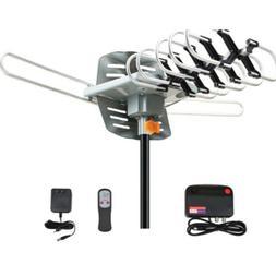 380Miles Outdoor TV Antenna Motorized Amplified HDTV 1080P 4