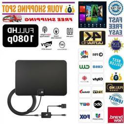 1byone Amplified Paper TV Antenna Indoor Digital High Gain 5