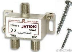 2.5 Ghz 2-WAY DIGITAL COMBINER SPLITTER HD TV/DTV OTA ANTENN