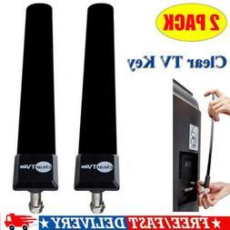 2 Pack Clear TV Key HDTV Free TV Stick Satellite Digital Ant