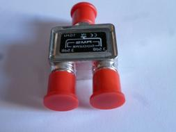 2-WAY CABLE TV ANTENNA  SPLITTER 1 GHz