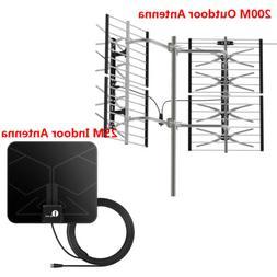 1byone 200/25 Miles Indoor Outdoor Antenna TV Digital HDTV A