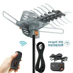 200 Mile 1080P 4K HDTV Outdoor TV Antenna Motorized Amplifie