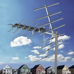 200 Mile Outdoor TV Antenna Satellite Dishes Amplified HDTV