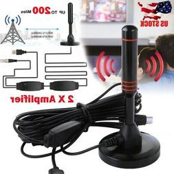 HD1080P 200 Mile Range Indoor Digital TV Antenna Amplified H