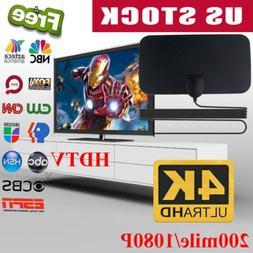 200 Mile Range Antenna TV Digital HD Skylink 4K Antena Digit