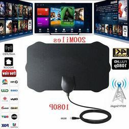 200 Mile Range Digital Antenna HD 1080P 4K Amplifier Antena