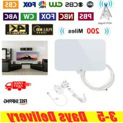 1byone  200 Miles Digital TV Antenna Range Signal Booster Am