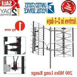 1byone 200 Miles Outdoor TV Antenna Digital HD VHF/UHF Long