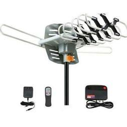 200 Miles Outdoor TV Antenna Motorized Amplified HDTV 36dB U