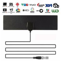 Black Indoor Digital TV HDTV Antenna  UHF/VHF/1080p
