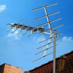 200MILES OUTDOOR TV ANTENNA AMPLIFIED HIGH GAIN HDTV 1080P W