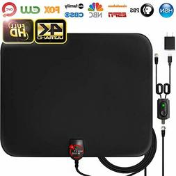 Amplified HD Digital TV Antenna Long 65-80 Miles Range Supp