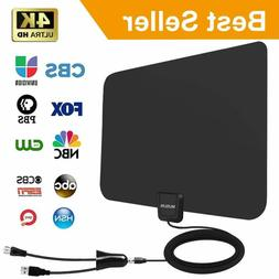 Amplified HD Digital TV Antenna 60-95 Mile Range.Support 4K