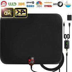Amplified HD Digital TV Antenna Long 65-80 Miles Range - Su
