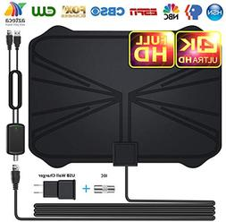 【2019 Latest】Amplified HD Digital TV Antenna Long 120 Mi