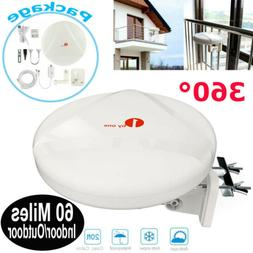 2019  60 Mile Hdtv TV Antenna 1byone 360° Amplified Indoor