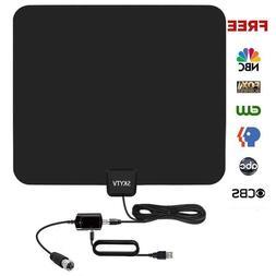 Amplified HD Digtial TV Antenna 50-85 Miles Long Range - De