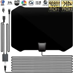 2020 New TV Antenna with Amplifier Free Digital 1080P HDTV 4