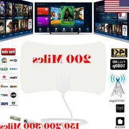300 Mile Range Antenna TV Digital HD Skywire 4K Antena HDTV