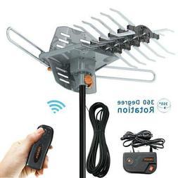 300mile 4K 1080P Outdoor Amplified HDTV TV Antenna UHF VHF 3