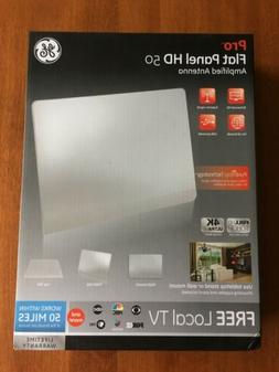 GE Pro Flat Indoor TV Antenna, USB Power, Slim Home Decor Lo