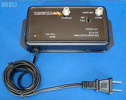 36db UHF VHF TV SIGNAL BOOSTER AMP AMPLIFIER HDTV COAX ANTEN