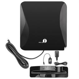 1Byone 40 Miles TV Antenna 20db Amplified Indoor HD Stand An