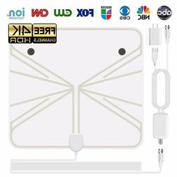 4K HD Digital TV Antenna Transparent Indoor HDTV Satellite R