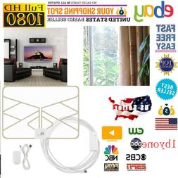 1byone 50 Mile Digital Indoor Amplified HDTV TV Antenna 4K C