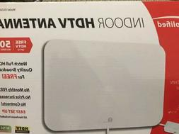 50 Mile Indoor Amplified HDTV Thin Antenna w/ Inline Amplifi