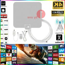50 Mile Range Antenna with Amplifier TV Digital 1080P HD HDT