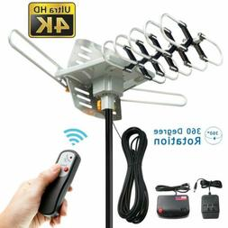 50 Miles Amplified Outdoor Tv Antenna 360 Degrees Hdtv Digit