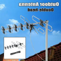 50 Miles Double-head TV Amplified Antenna Digital Signal Ins