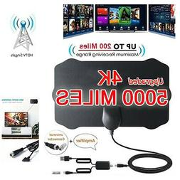 5000 Mile Shield HDTV Antenna 4K HD Indoor Digital TV Aerial