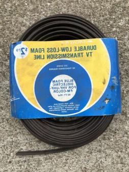 Archer 50ft 15mm 300 Ohm TV FM Twin Lead Antenna Cable Vinta