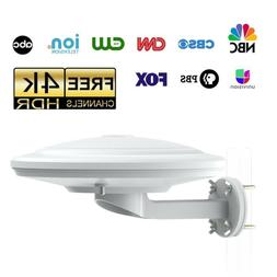 70 Mile TV Antenna 360°Reception Omni-directional Amplified