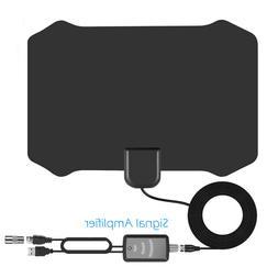 Optostars 80 Mile Range Leaf Metro TV Antenna - Black