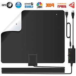 Lesoom 85+ Miles HD TV Antenna V0 Fireproof PC Material Ind