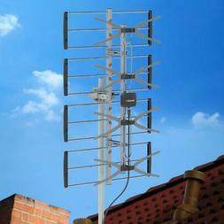 Leadzm HDTV 1080P 150 Mile Outdoor Amplified TV Antenna UHF